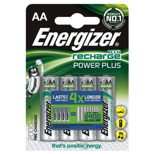 Nabíjecí baterie Energizer Power Plus AA 2000mAh 4ks