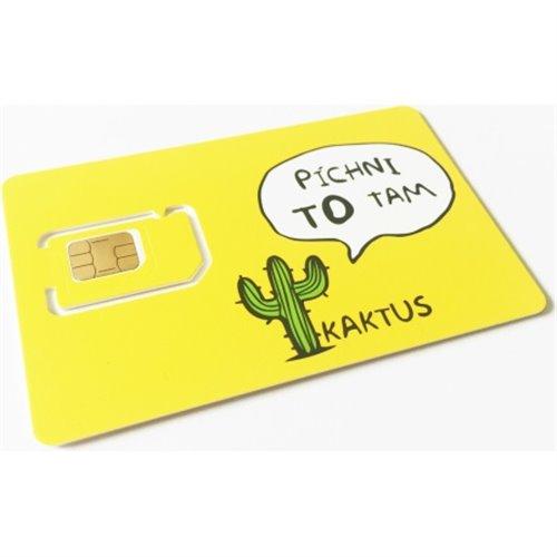 SIM karta Kaktus (T-Mobile) s kreditem 100 Kč